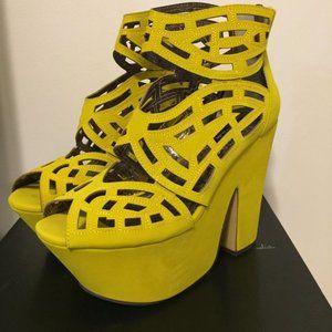 Yellow Gallista Platform Shoes